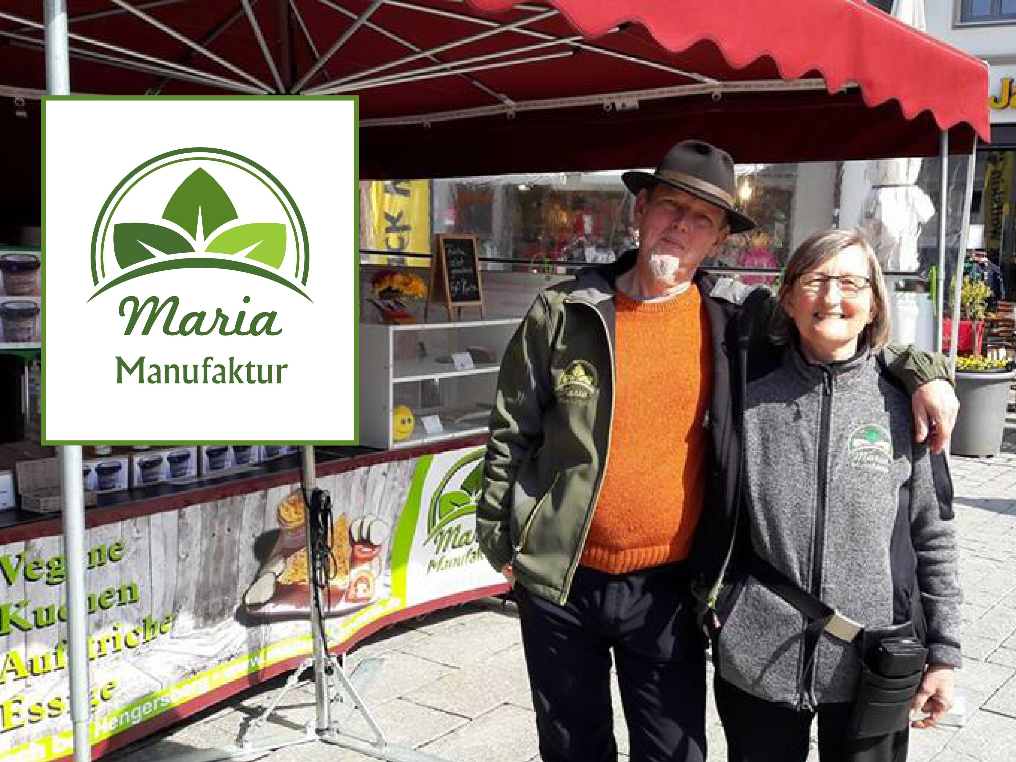 Wochenmarkt-Stand der Maria Manufaktur.