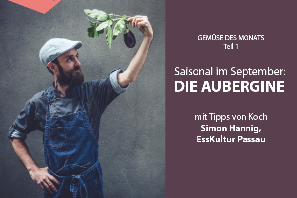 Saisonal essen im September: Alles Aubergine!