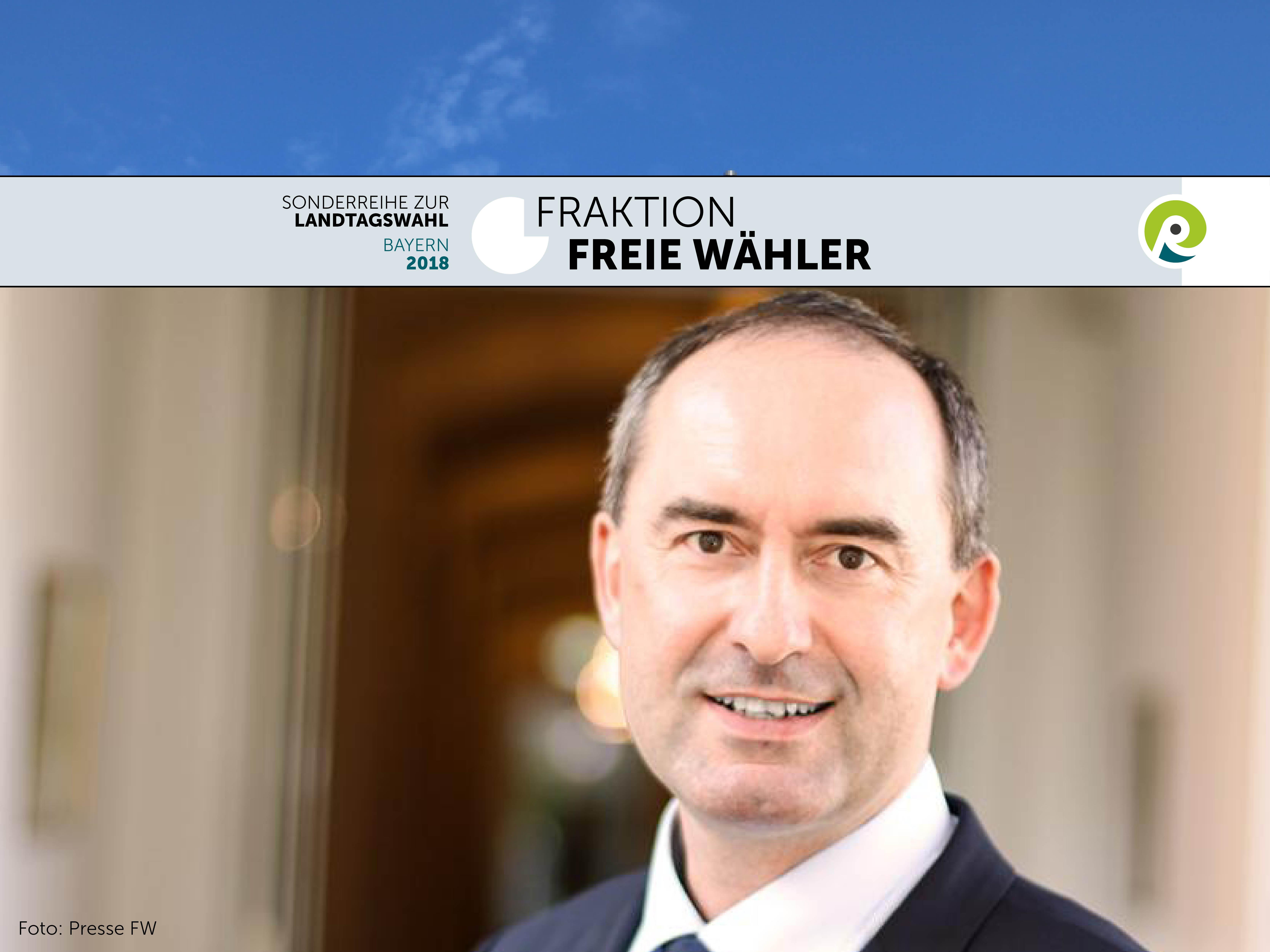 Hubert Aiwanger als Spitzenkandidat der Freien Wähler zur bayrischen Landtagswahl 2018.