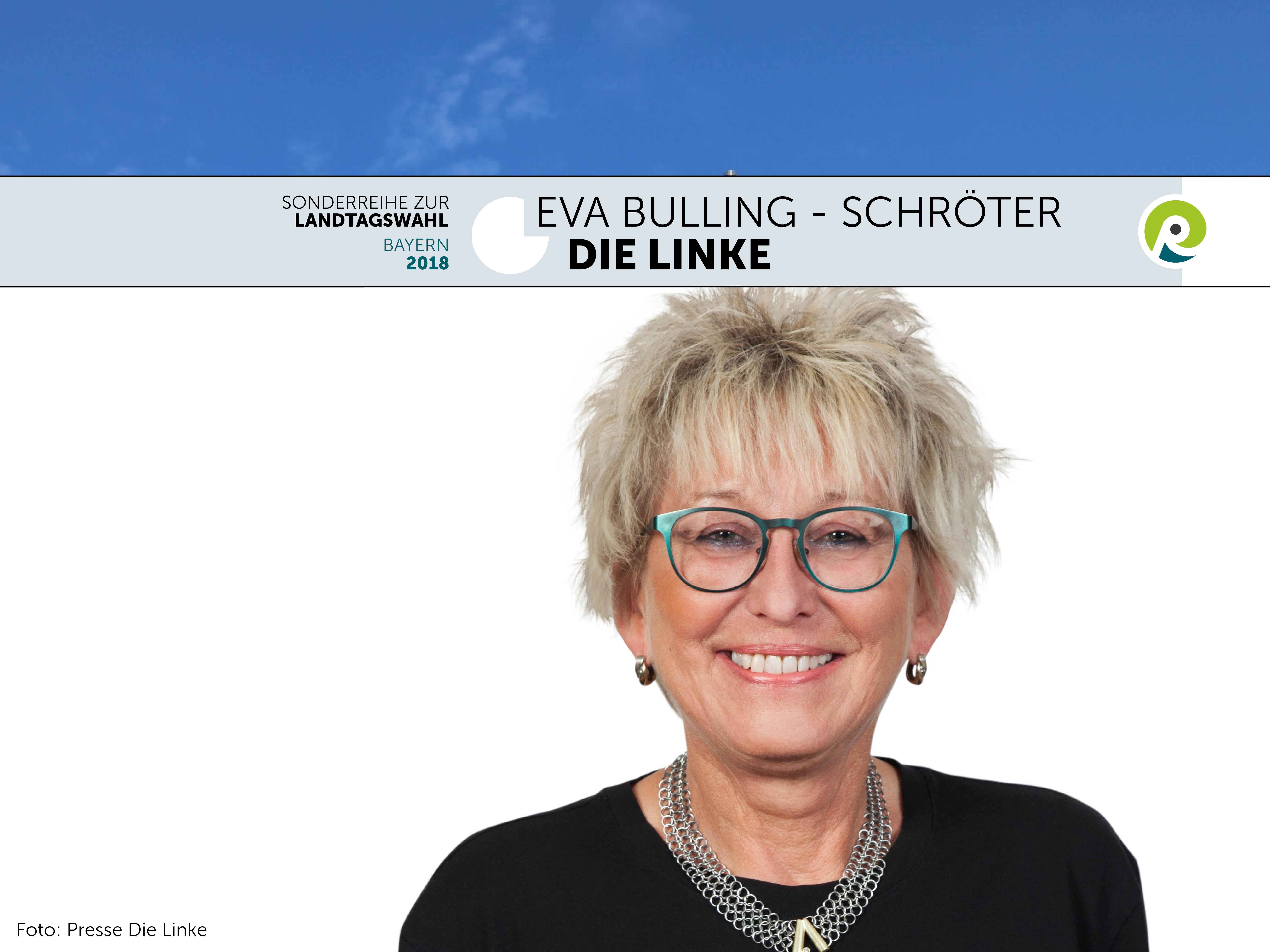 Eva Bulling-Schröter als Spitzenkandidatin für die Linke bei der bayrischen Landtagswahl 2018.